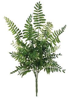 Fern Bush in Two Tone Green | Artificial Silk Greenery | Afloral.com