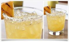 Piña Parilla 2 parts Peligroso® Añejo tequila 1/2 part lime juice 1/2 part agave nectar 1/2 part pineapple juice 3-4 chunks of grilled pineapple 2 basil leaves