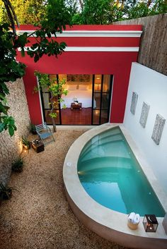 Cute, cute, cute:  Private spa courtyard for Master Bedroom.