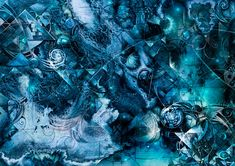 """""""The Map of Alternate Reality"""" - Chris Cole Mixed Media"""