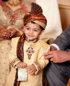 Young family member at a wedding