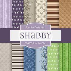 Shabby Chic Digital Paper DP4068 - Digital Paper Shop - 1