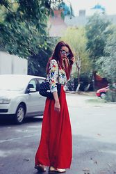 Andreea Birsan - Christian Dior Sunglasses, Zara Shirt, Mango Maxi Skirt, Il Passo Oxfor Shoes - 1809