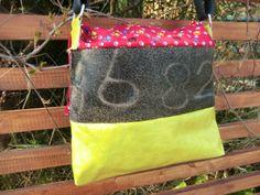 """KUHIE, Kuhfelltasche """"Lenchen"""" in gelb-rot von Gmischtesach:  Die Tasche mit der Kuh !! auf DaWanda.com"""