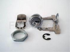Serratura sportello laterale Vespa 50-125 Primavera-125 ET3 completa (CIF), ricambio 5650