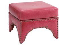 ONE KINGS LANE Candemir Ottoman, Raspberry