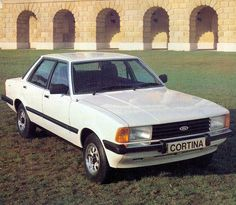 """Ford Cortina GL 1981 - Had this in Tuscan beige, the ride was like being on a boat. The dream ended when a neighbour slammed into the back of it after having a blazing row with her husband. insurance """"write off"""", but sadly not the last. Retro Cars, Vintage Cars, Antique Cars, Ford Motor Company, Car Dump, Cars Uk, Ford Classic Cars, Old Fords, Car Ford"""