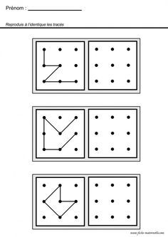 Conecte pontos e crie as formas. Grade R Worksheets, Preschool Worksheets, Math For Kids, Puzzles For Kids, Infant Activities, Preschool Activities, Visual Perception Activities, Free Printable Puzzles, Do A Dot