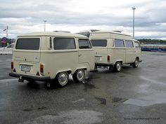 VW Camper Van and Matching Trailer