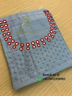 WhatsApp To customise Embroidery On Kurtis, Kurti Embroidery Design, Hand Embroidery Dress, Hand Embroidery Videos, Simple Embroidery, Crewel Embroidery, Beaded Embroidery, Chudithar Neck Designs, Kurti Neck Designs
