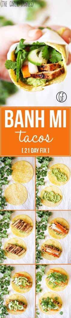 Banh Mi Tacos [21 Day Fix] - All the flavors of a Banh Mi, but in taco form! Because tacos make everything better :). Gluten free! TheGarlicDiaries.com ■