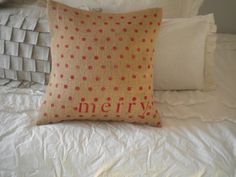 Red Polka Dot Christmas Pillow Cover by BeiFioriEmbellish on Etsy, $12.00