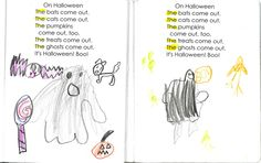 sight word poems - interactive notebooks (A Place Called Kindergarten)