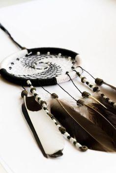 dreamcatcher, black, white, pacificro, dream, catcher, amulets, jewelery, ethnics, boho.