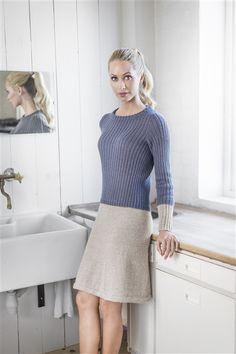 - Design Kjole - Køb billigt her Knit Cardigan, Knit Dress, Diy Fashion, High Neck Dress, Beige, Knitting, Sweaters, Cardigans, Crochet