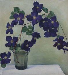'Jan' Hendrik Willem Wittenberg (Den Haag 1886-1963 Bennekom) Clematis - Dutch Art Gallery Simonis and Buunk Ede, Netherlands.
