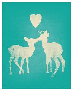 """""""deer love print"""" from amycnelson."""