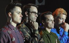 Ben Schnetzer, Joseph, Andrew Scott and Dominic West in Pride