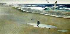 Andrew Wyeth 'On the Beach' 1946, tempera on masonite | Flickr