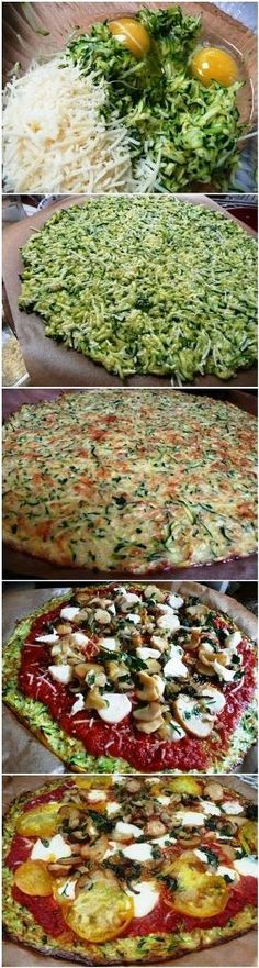 Pizza con base vegetal