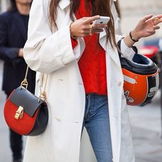 CATCH-a-TREND. A Curation Of Street Style Excellence. #catchatrend #streetstyle #chloe #handbag #chloeGIRLS #red
