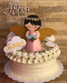 Baby Shower Cakes, Angel Crafts, Girl Cakes, Baby Knitting, Cake Toppers, Birthday Cake, Cupcakes, Desserts, Food