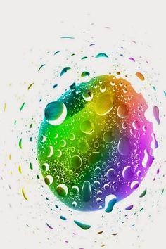 iPhone 4 4s Wallpaper - Water Drop Print Finger