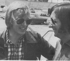 Fittipaldi 1973 | Peterson y Fittipaldi sonrientes, pero la camaradería duraría poco.