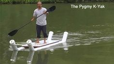 World's first, tandem 2 seat, anyone can make, do-it-yourself, easily affordable, PVC pipe kayak - jet-boat prototype build.