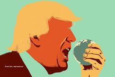@Ivan Canu salzmanart.com client: die Zeit: Eat the planet (Trump's series) #editorial #trump #politics #planet #magazine #earth