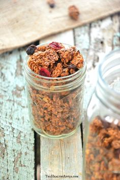 Gluten-Free, Paleo Homemade Cranberry Granola {And Why All Calories Are NOT Created Equal} | TheHealthyApple.com | #glutenfree #granola #homemade #cranberries #breakfast