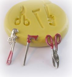 Tools Wrench Saw Mold Mould Resin Clay Fondant Wax Soap Miniature Jewelry Charms Flexible Molds