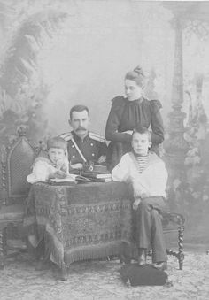 The Yusupov family : Prince Feliz, Count Felix Felixovich Sumarkov-Elston, Princess Zinaida and Prince Nicholas.