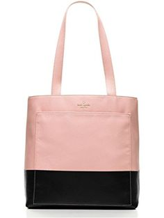 fb1feb1c19 kate spade new york Lita Street Andrea Tote Bag (pink bonnet black) ❤ .