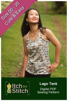 Lago Tank Digital Sewing Pattern (PDF) - Itch To Stitch