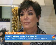 Emotional: Kris Jenner is seen for the first time reacting to the news over ex-husband Bru...