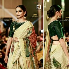 Kamalapani _Ajantha Ellora Cave_ Leather _SeaKissed . Reviving Kerala Handloom KeralaSaree . Mahindra Kerala Fashion League 2K18  Braid de'® Paarvati Saraswathy Kerala Handloom . . Braid de'® Official  Fashion Photographer - An Abi Yesodaran Group . . Show Director- Faheem Show Choreography- Sandeep Gowda . #Kamalapani #Ajanthacave #leather #blouse #Seakissed #kfl #braidde #KeralaSaree