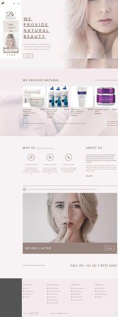 BeTheme Multipurpose Responsive Magento Theme for Stunning Beauty Parlor Website. Parlour Design, Cosmetic Web, Minimal Web Design, Beauty Clinic, Skin Clinic, Web Design Trends, Website Design Inspiration, Best Wordpress Themes, Ecommerce Websites