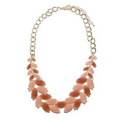 Cheap and So Chic Leaves Necklace Blush   Lilac Bijoux
