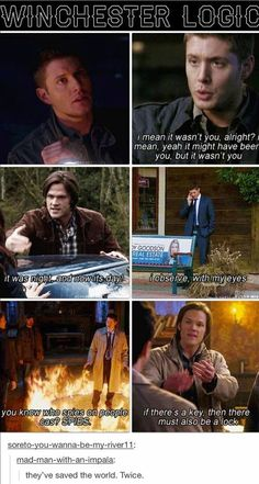 Really though  Sam and dean :)