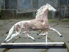 Antique American folkart horse weathervane