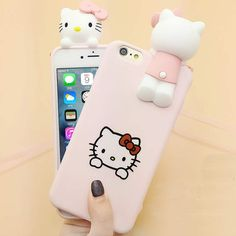 Hot Japan Fashion Cute Cartoon Hello Kitty Cat for iphone 6 Case Soft Silicone Protective Case for iPhone 7 Plus Iphone 7, Iphone Wallet Case, Iphone Phone Cases, Iphone Case Covers, Iphone Cases For Girls, Iphone Cases Disney, Cool Phone Cases, Hello Kitty, Accessoires Iphone