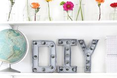 Darby smart is the most popular video community for beauty, food, diy and slime enthusiasts - join today! diy home decor ideas on a budget Diy Marquee Letters, Marquee Sign, Light Letters, Marquee Lights, I Spy Diy, Fun Diy, Idee Diy, Pinterest Diy, Crafts To Do