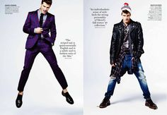 magazine layout ideas...also men's fashion