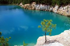 The Blue Hole in Zavalla, TX. Most of thr granite used along the gulf coast and on Galveston Island came from here. So beautiful and it's about 2 1/2 hours north of where I live.