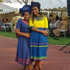 Pedi Traditional Attire, Sepedi Traditional Dresses, African Traditional Wear, African Attire, African Fashion Dresses, African Dress, Clothes Women, Fashion Clothes, Fashion Outfits