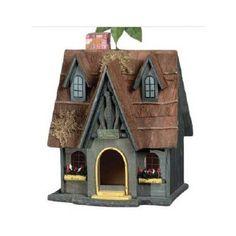 Birdhouse Bird House Bird Yard Garden Kit Home Decor Wooden Cottage Chimney | eBay