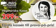 Du vet väl att alla matkassarna från Linas Matkasse har ett prova på-pris? Just nu kan du testa Linas Vegetariska matkasse för 299:-. Prefekt som julklapp eller present! Läs mer om matkassen här: http://matkassarna.com/matkasse/linas-matkasse-vegetariska-kasse/