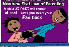 #iPad humor Science of Parenthood
