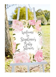 Baby shower welcome sign, Welcome to baby shower sign, pastel baby shower sign, girl baby shower sig Idee Baby Shower, Fiesta Baby Shower, Floral Baby Shower, Baby Shower For Girls, Girl Baby Showers, Baby Shower Flowers, Bridal Shower Welcome Sign, Bridal Shower Signs, Baby Shower Signs